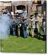 Confederate Soldiers Fire Acrylic Print