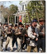 Confederate Soldiers Marching Acrylic Print