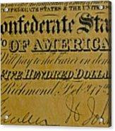 Confederate States Acrylic Print