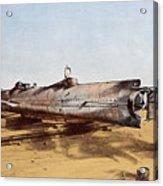 Confederate Submarine, Hunley Acrylic Print