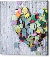 Confetti Heart Acrylic Print
