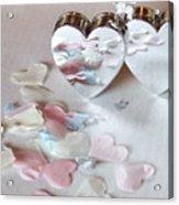 Confetti Hearts Acrylic Print