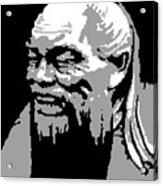 Confucius - Portrait By Asbjorn Lonvig Acrylic Print
