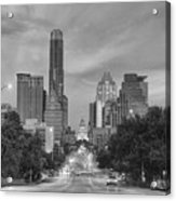 Congress Andtexas Capitol Black And White 1 Acrylic Print