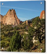 Coniferous Trees In The Garden Of The Gods Acrylic Print