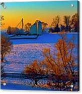 Conley Road Farm Winter  Acrylic Print