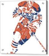Connor Mcdavid Edmonton Oilers Pixel Art 6 Acrylic Print