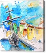 Conquistador Boat In Portugal Acrylic Print
