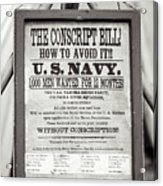 Conscript Bill  Acrylic Print