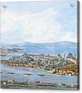 Constantinople Ships Acrylic Print