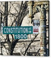 Constitution Avenue Street Sign Acrylic Print