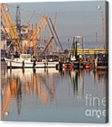 Construction Of Oil Platform With Boats Acrylic Print