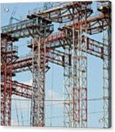 Construction Site New Bridge Arc Acrylic Print