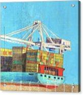 Container Jockey Acrylic Print