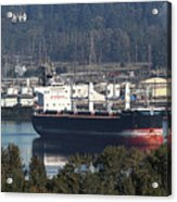 Container Ship Ready To Load More Lumber Acrylic Print