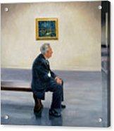 Contemplating Van Gogh Acrylic Print