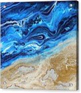Contemporary Abstract Beach Nacl Acrylic Print