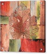 Contemporary Grape Leaf Acrylic Print