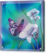 Contemporary Painting Of A Dancing Butterfly  Acrylic Print