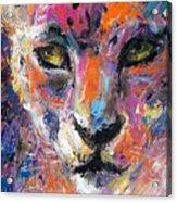 contemporary Wildlife painting cheetah leopard  Acrylic Print by Svetlana Novikova