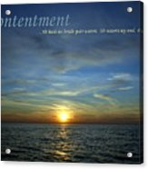 Contentment Acrylic Print