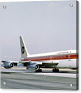 Continental Airlines 720-024b N17207 Los Angeles July 22 1972 Acrylic Print