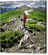 Continental Divide Above Twin Lakes 7 - Weminuche Wilderness Acrylic Print