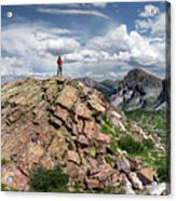 Continental Divide Above Twin Lakes - Weminuche Wilderness Acrylic Print