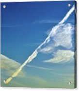 Contrails And Clouds Two  Acrylic Print