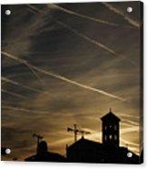Contrails At Sunrise Acrylic Print