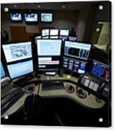 Control Room Center For Emergency Acrylic Print by Terry Moore