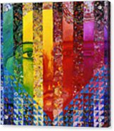 Conundrum I - Rainbow Woman Acrylic Print