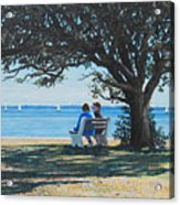 Conversation In The Park Acrylic Print