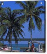 Convertible On Pigeon Key In Florida Acrylic Print