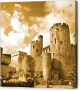 Conwy Castle And The Telford Suspension Bridge North Wales Acrylic Print