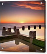 Coogee Beach At Early Morning,sydney Acrylic Print by Noval Nugraha Photography. All rights reserved.