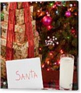 Cookies And Milk For Santa Acrylic Print