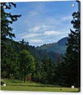 View Of Underwood Mountain Acrylic Print