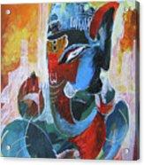 Cool And Graphical Lord Ganesha Acrylic Print