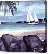 Cool By The Rocks Acrylic Print
