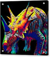Cool Dinosaur Color Designed Creature Acrylic Print