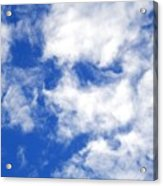 Cool Face In The Blue Sky Acrylic Print