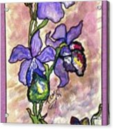Cool Flower Study Acrylic Print