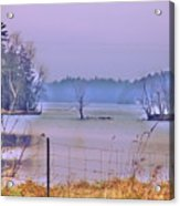 Cool Morning In Vermont Acrylic Print