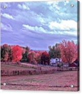 Cool Sunset Autumn Farm Acrylic Print