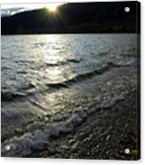Cool Waters Sunset Acrylic Print