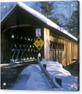Coombs Winchester Covered Bridge Acrylic Print