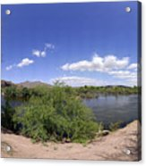Coons Bluff Salt River Arizona Acrylic Print