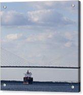 Cooper River Bridge Container Ship Charleston Acrylic Print
