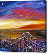 Cooper River Bridge Acrylic Print by James Christopher Hill